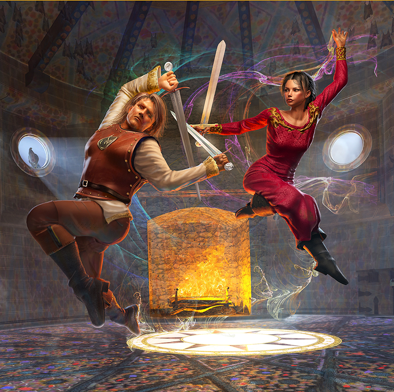 artwork for novel by Barbara Pickering Dancing the Sword