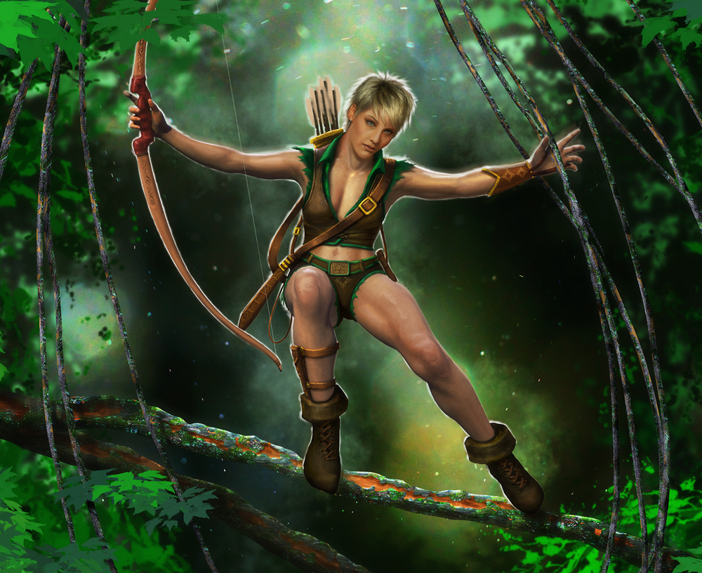 Artwork of fairy holding Bow