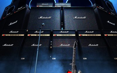 Image of guitar and amps