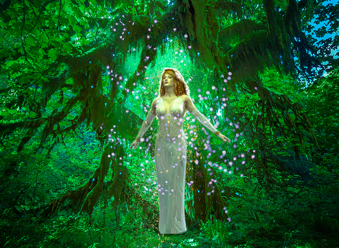 image of a woman in the forest